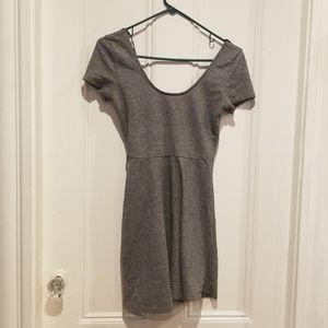 Short sleeved skater dress